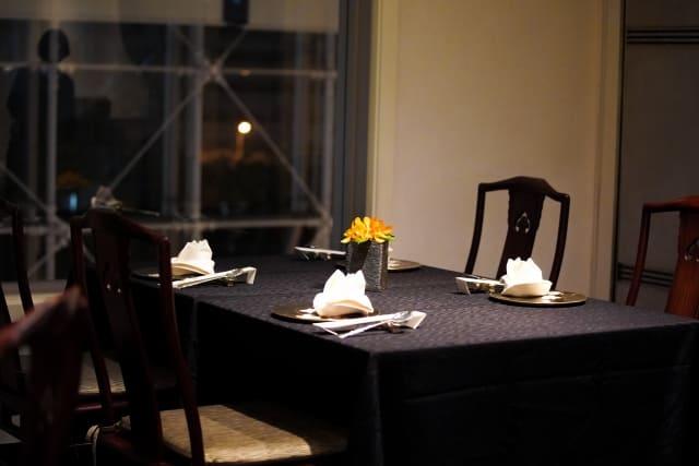 好きな人と二人で夜ご飯を食べた高級レストラン