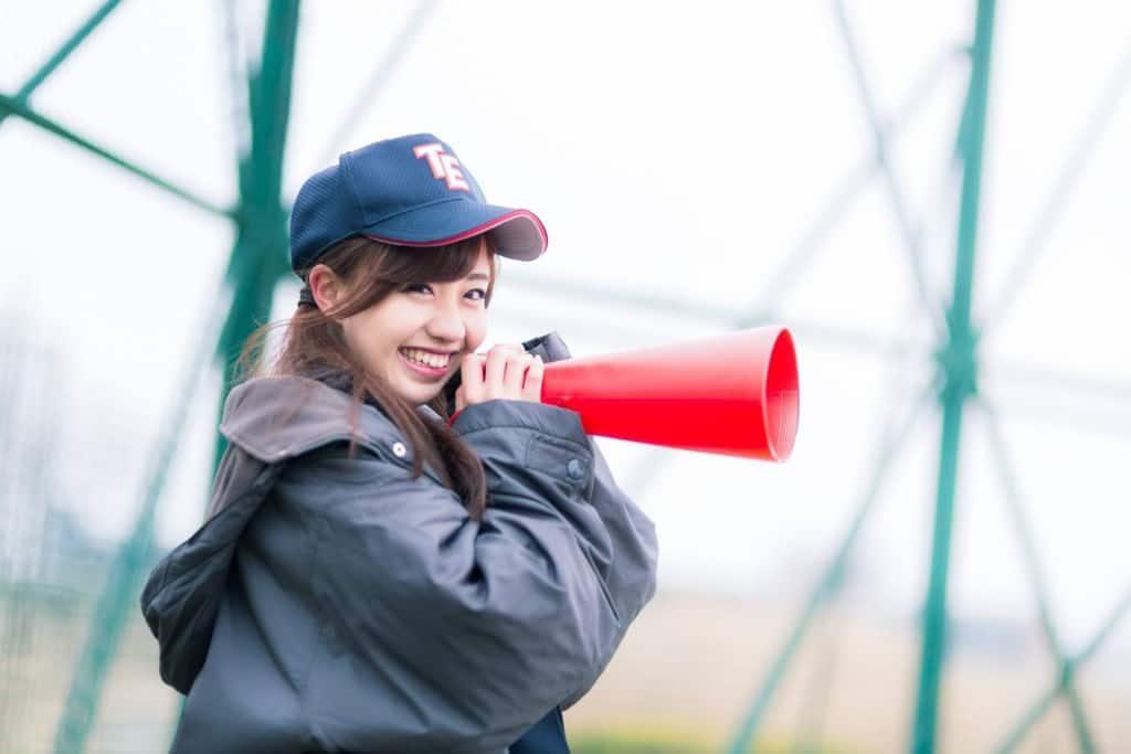 野球部のマネージャーをやっている女子