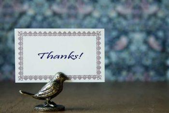 バイト先の好きな人に送るお礼のLINEのイメージ画像。手紙にありがとうと書いてある。